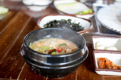 Korea mat - sojabönaragu Royaltyfria Bilder