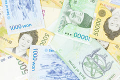 Korea money on white background Stock Image