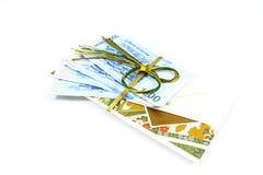 Korea money wit Gift envelope on white background Royalty Free Stock Photography