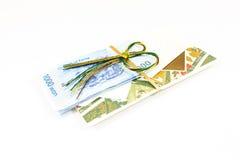 Korea money wit Gift envelope on white background Stock Photography