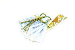 Korea money wit Gift envelope on white background Stock Image