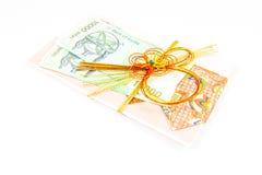 Korea money wit Gift envelope on white background Stock Images