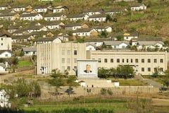 korea norr town Arkivfoto