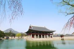 Korea Palace. Gyeongbokgung palace, South Korea. / 2 April 2016 stock images
