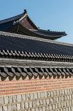 Korea - palace roof detail. Roof detail in the King's palace, Seoul royalty free stock photo