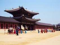 Korea-Palast Lizenzfreie Stockfotos