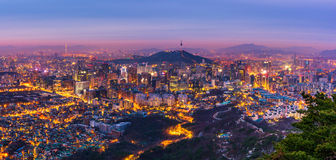 Korea,Panorama of Seoul City Skyline , South Korea royalty free stock photography
