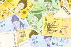 Korea pengar Arkivfoton