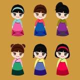 Korea Piękny Wektorowy ilustracyjny projekt Obrazy Royalty Free