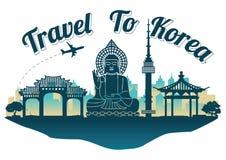 Korea punktu zwrotnego sylwetki odgórny sławny styl na wyspy sławnym lan obraz royalty free