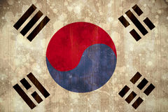 Korea republic flag in grunge effect Stock Photography