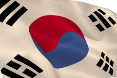Korea republic flag waving Stock Photos