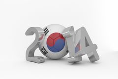 Korea republic world cup 2014 Royalty Free Stock Photo