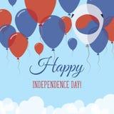 Korea, republika dnia niepodległości mieszkania powitanie Zdjęcie Royalty Free