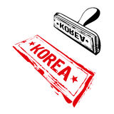 Korea rubber stamp Royalty Free Stock Photos