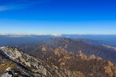 Korea scenic mountain landscape shot at Mount Seoraksan National Park. Royalty Free Stock Photos