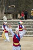 Koreańscy Ludowi tancerze i muzycy Obrazy Royalty Free