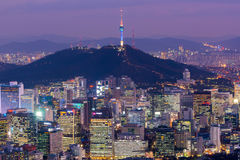 Korea,Seoul City Skyline, The best view of South Korea Stock Image