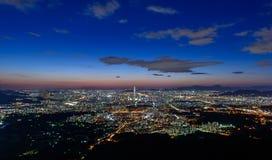 Korea,Seoul city. Skyline at night Royalty Free Stock Image
