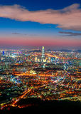 Korea,Seoul city. Skyline at night Stock Photography