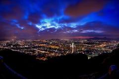 Korea,Seoul city skyline. At night Royalty Free Stock Photos