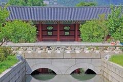 Korea Seoul Gyeongbokgung Palace. Gyeongbokgung Palace built in 1395, was the main royal palace of the Joseon dynasty stock photo