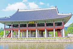 Korea Seoul Gyeongbokgung Palace, Gyeonghoeru stock photos