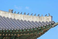 Korea Seoul Gyeongbokgung Palace, Gyeonghoeru stock photography