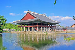 Korea Seoul Gyeongbokgung Palace, Gyeonghoeru Royalty Free Stock Photo