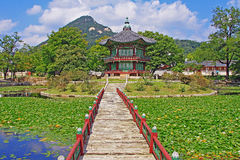 Korea Seoul Gyeongbokgung Palace, Hyangwonjeong Royalty Free Stock Photography