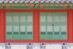 Korea Seoul Gyeongbokgung Palace, Taewonjeon. Gyeongbokgung Palace built in 1395, was the main royal palace of the Joseon dynasty. Taewonjeon Shrine, is an stock photography