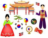 The korea set royalty free illustration
