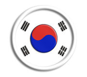 Korea shield. Korea button shield Royalty Free Stock Image
