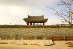 Koreańska tradycyjna architektura Zdjęcie Royalty Free
