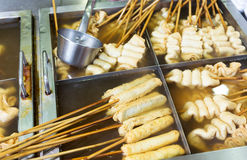 Koreański lokalny jedzenie, rybi tort Fotografia Stock