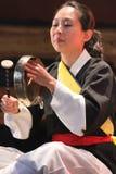 Koreański muzyk kkwaenggwari gracz Zdjęcia Stock