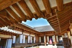 Koreański tradycyjny dom w Namsan Hanok wiosce Zdjęcia Royalty Free