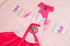 Koreański tradycyjny kostium dla dziewczyn Zdjęcie Royalty Free