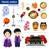 korea som löper stock illustrationer