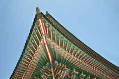 Korea style roof Royalty Free Stock Photos