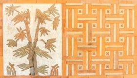 Korea stylu ściana z cegieł Obrazy Stock