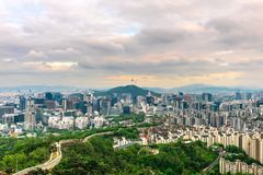 Seoul City Skyline, The best view of South Korea. royalty free stock photos