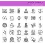 Korea symbole royalty ilustracja