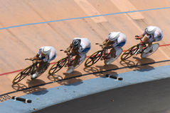 Korea Team at Asian Cycling Championships 2012 Royalty Free Stock Images