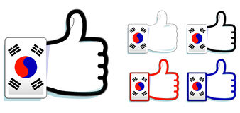 Korea thumb up Stock Images