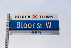 Korea Town Sign Royalty Free Stock Image