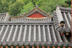 Korea Traditional Architecture Roof stock image