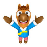 Korea Traditional 3D Horse mascot the direction of pointing with Stock Photos