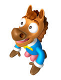 Korea Traditional 3D Horse Mascot is a polite greeting. 3D Anima Royalty Free Stock Photos