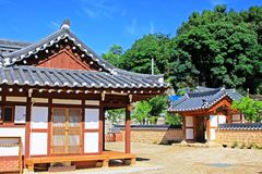 Korea Traditional Folk House Stock Photos